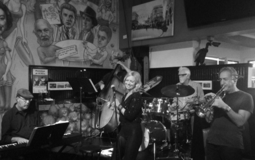 Rachael Sorsa and Band performing at Danny's Deli.